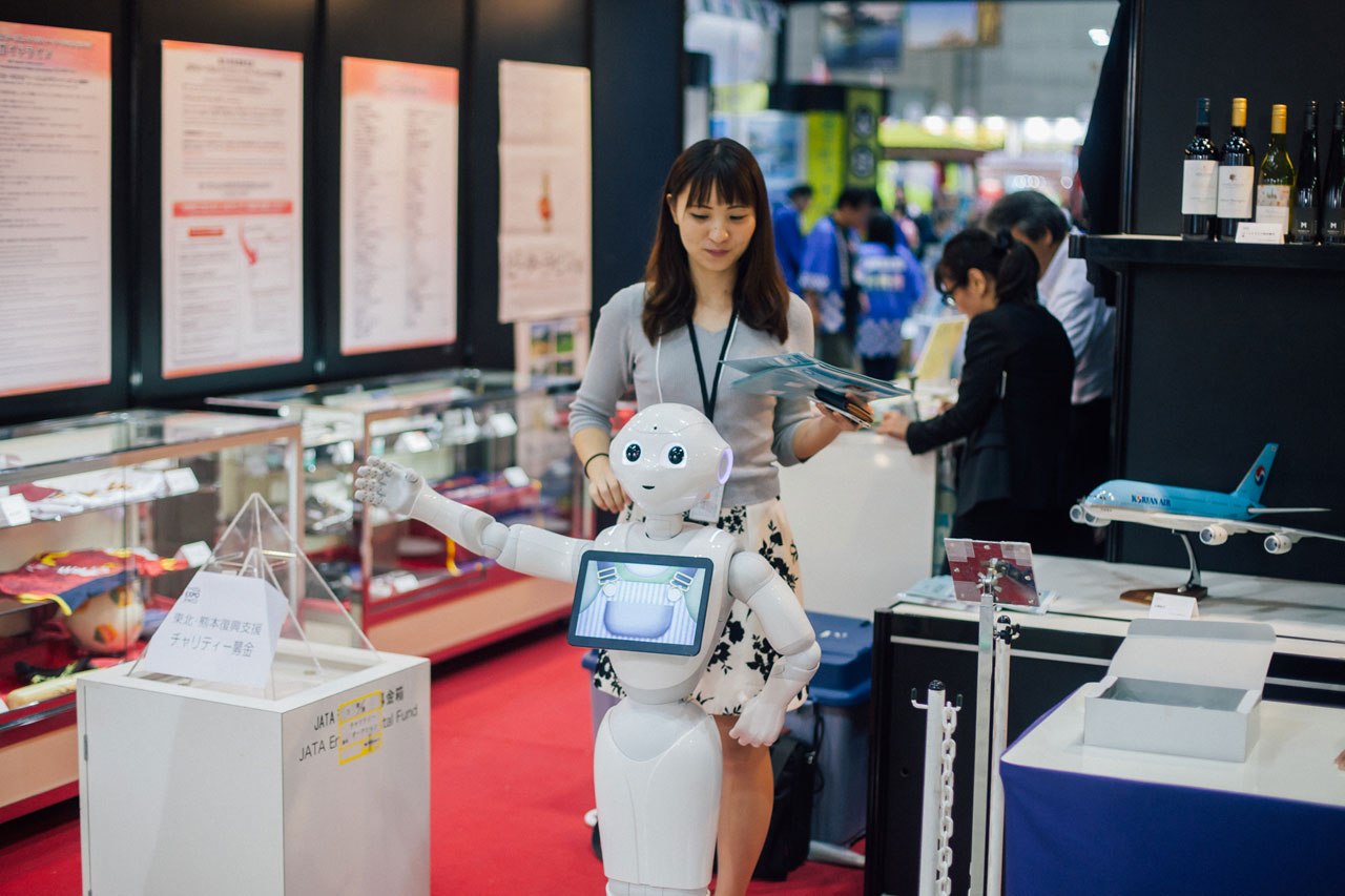 Pepper, human-shaped robot from Japan