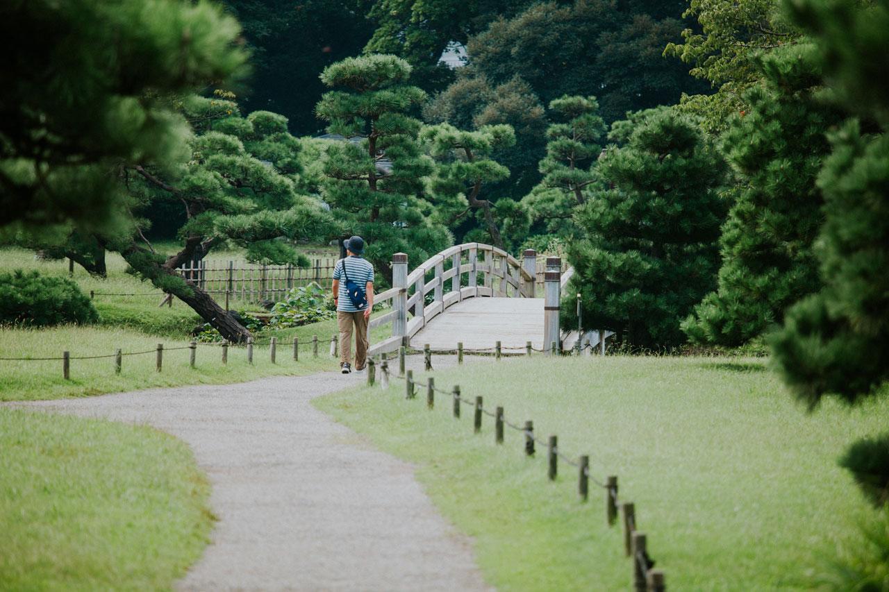 Hama-rikyu gardens in Ginza, Tokyo