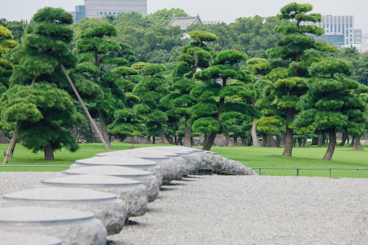 Emperors Palace gardens in Tokyo
