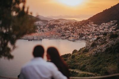 Dubrovnik engagement photo session