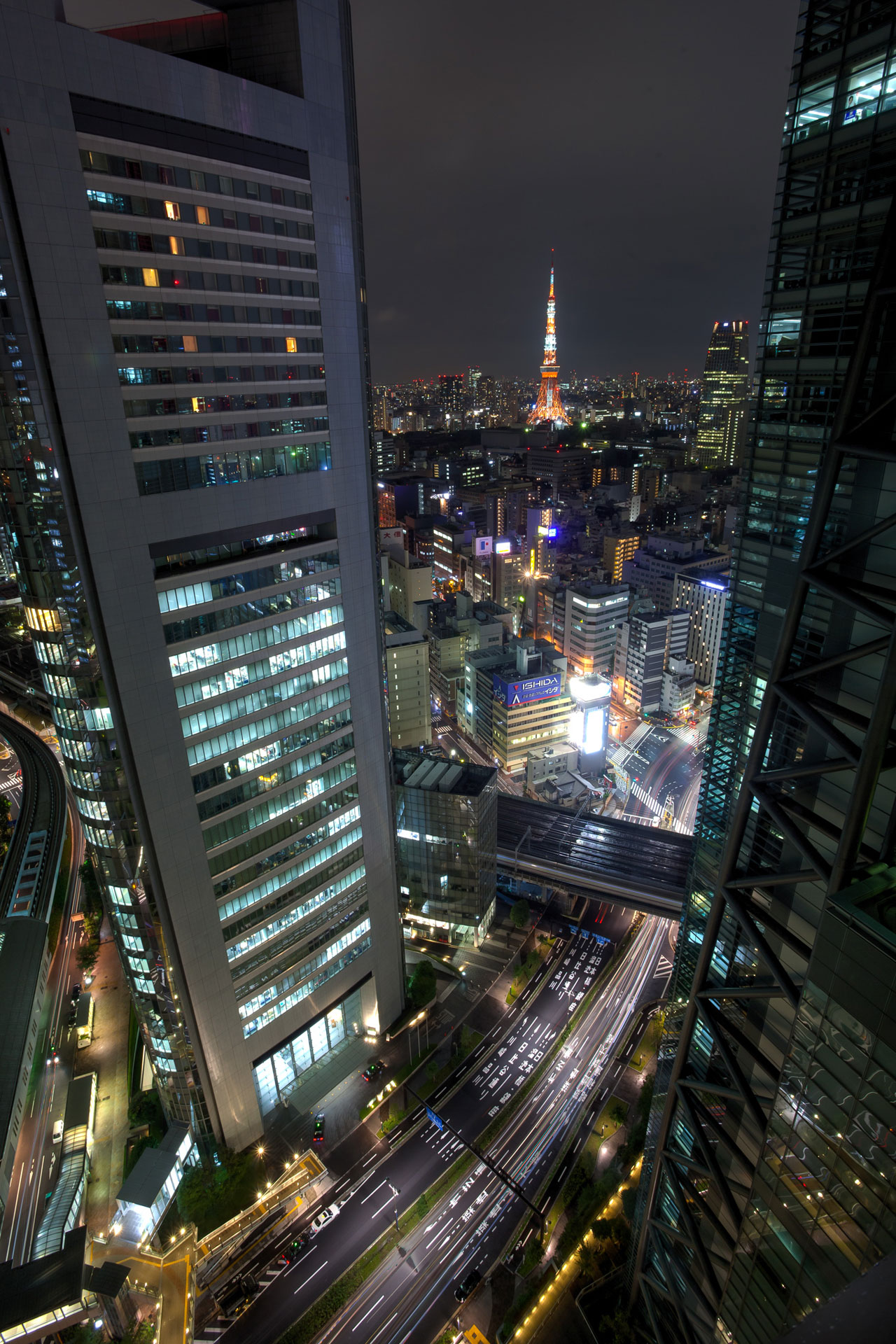 View from 29th floor over Ginza, Tokyo