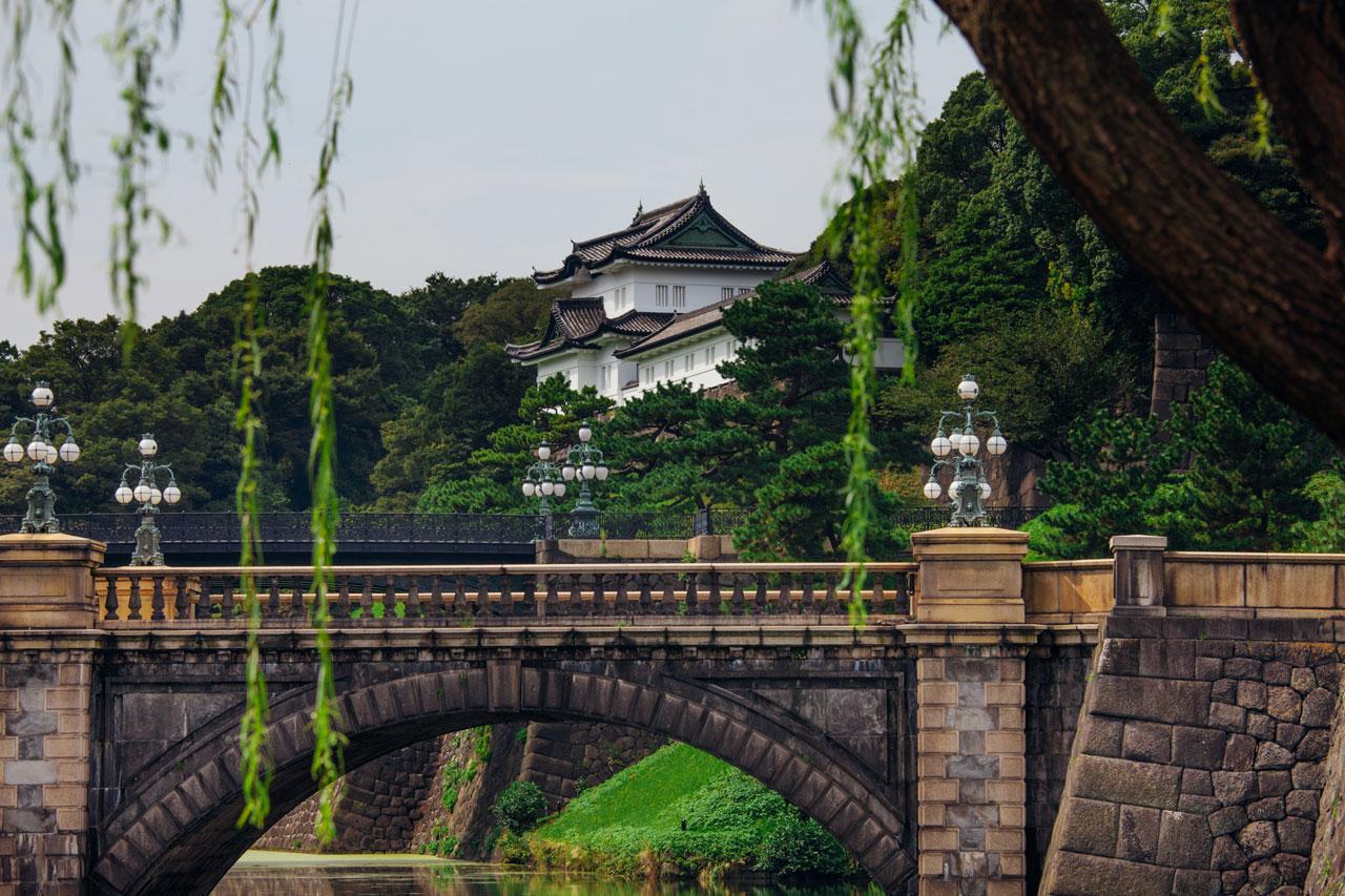 Emperors Palace bridge in Tokyo
