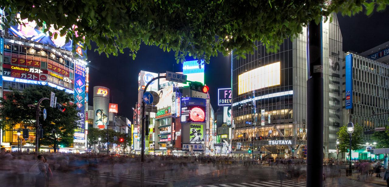 Roppongi street in Tokyo
